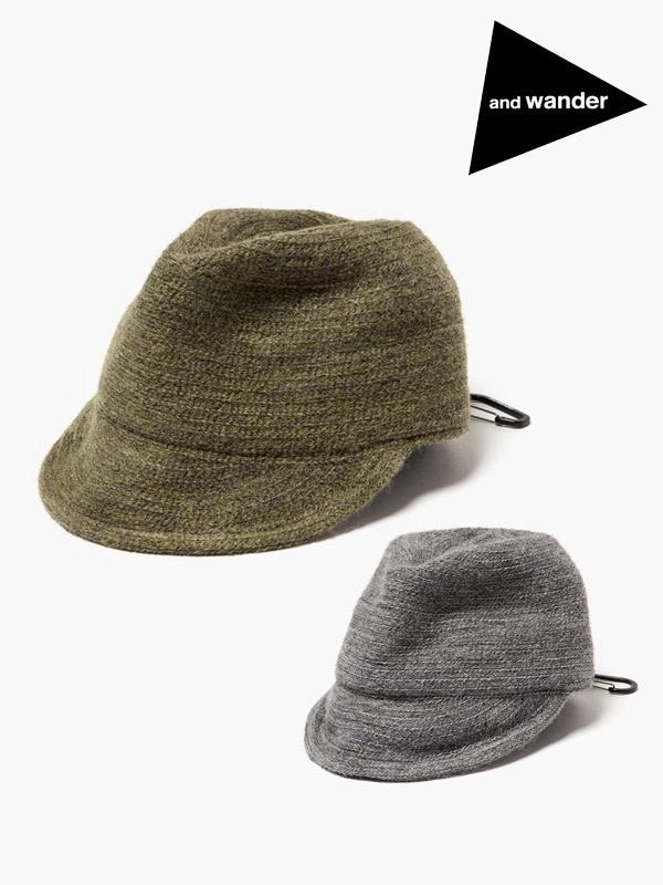 and wander,アンドワンダー,mohair braid cap,モヘアブレードキャップ
