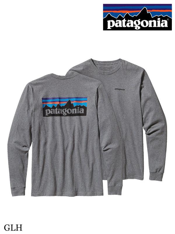 patagonia,パタゴニア,Long Sleeved P6 Logo Cotton T-shirt,メンズ・ロングスリーブ・P-6ロゴ・コットン・Tシャツ