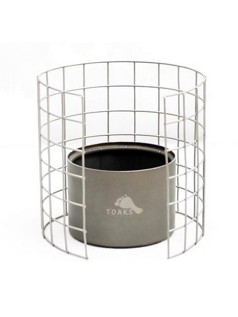 TOAKS, トークス,Titanium Alcohol Stove & Stainless Frame set,アルコール ストーブ & ステンレス フレーム セット