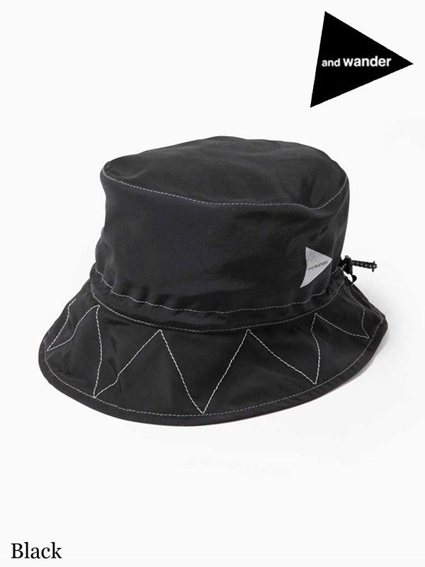 and wander,アンドワンダー, 60/40 cloth hat #Black ,60/40 クロスハット