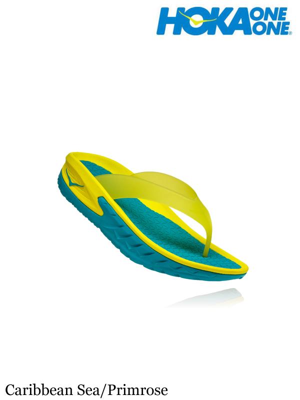 HOKA ONEONE,ホカ オネオネ, ORA RECOVERY FLIP #Caribbean Sea/Primrose ,オラ リカバリー フリップ メンズ