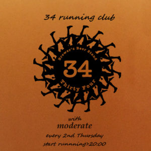 「34 running club with moderate」2020年2回目:2月13日(木)