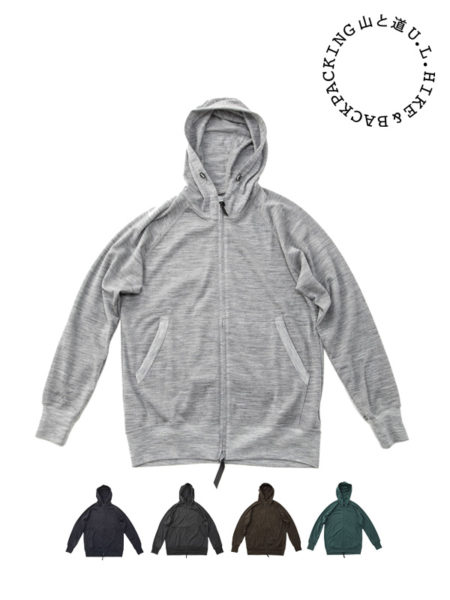 山と道|Merino Full Zip Hoody