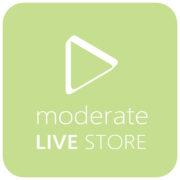 moderate LIVE STORE をテスト的にオープンします。